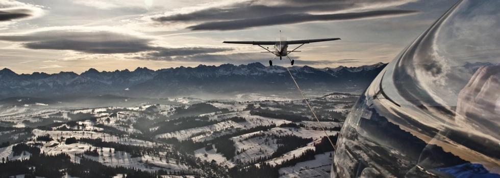 Wakacje w górach - lot szybowcem