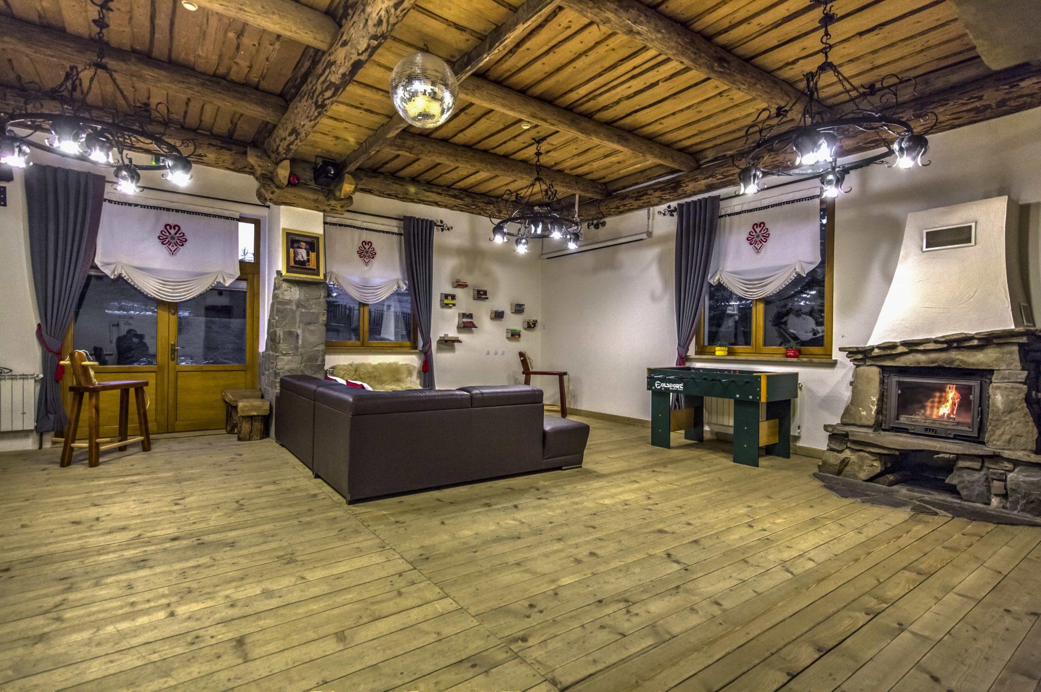 Salon w pensjonacie Moje Tatry