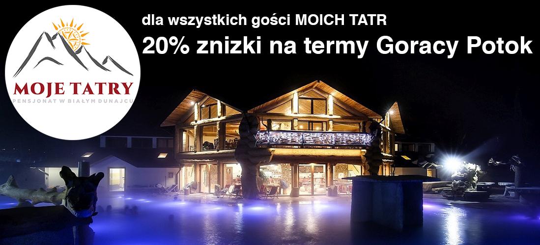 Gorący Potok noclegi w pensjonacie Moje Tatry, jedynie 1,4 km od term