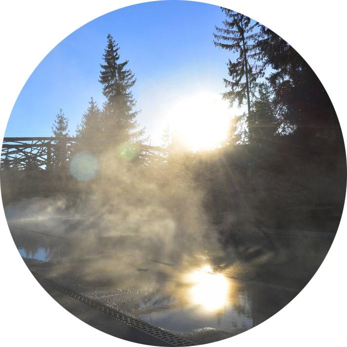 Gorący Potok - termy jedyne 1,4 km od pensjonatu Moje Tatry