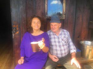 Gospodyni Bezglutenowego Pensjonatu Moje Tatry w bacówce